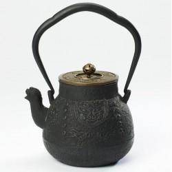 Théière en fonte Yutanari 1,1L (noir et or)
