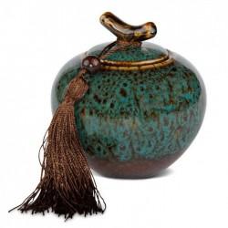 Boite à thé porcelaine bleu 300ml