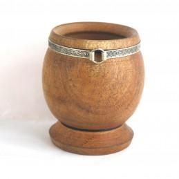 Pot à Maté en bois avec pied
